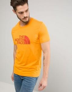 Свободная оранжевая футболка с большим логотипом The North Face - Оранжевый