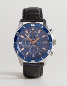 Часы с кожаным ремешком и хронографом Sekonda эксклюзивно для ASOS - Темно-синий
