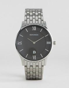 Серебристые часы из нержавеющей стали Sekonda 1153 - Серебряный