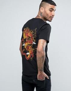 Черная футболка с драконом на спине Criminal Damage - Черный