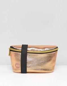 Золотисто-розовая сумка-кошелек на пояс Mi-Pac - Золотой