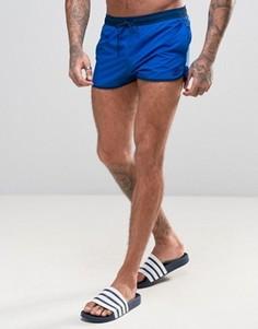 Короткие шорты для плавания с разрезами adidas BJ8576 - Синий