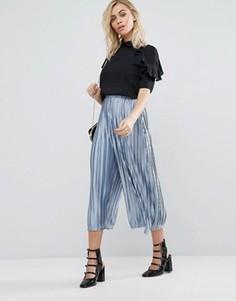 Плиссированные брюки Fashion Union - Синий