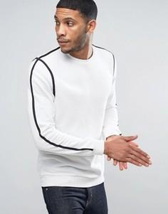 Бежевый свитер с черным кантом New Look - Белый