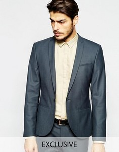 Супероблегающий пиджак с острыми лацканами Noak - Серый