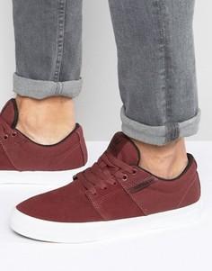 Замшевые кроссовки Supra Stacks Vulc II - Красный