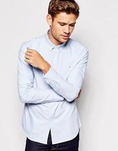 Оксфордская рубашка узкого кроя Farah - Синий