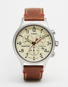Коричневые часы-хронограф Timex Expedition Scout TW4B04300 - Коричневый