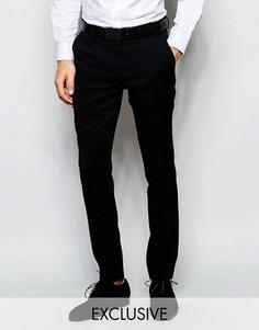 Эксклюзивные эластичные брюки скинни Number Eight Savile Row - Черный