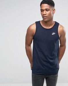 Синяя майка Nike Futura 827282-475 - Синий