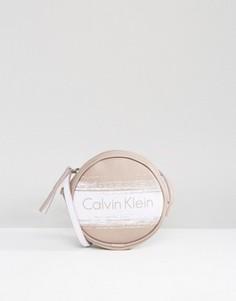 Мини-сумка через плечо с логотипом CK Jeans - Бежевый Calvin Klein