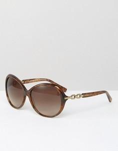 Большие солнцезащитные очки Michael Kors - Коричневый