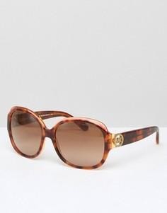 Большие круглые солнцезащитные очки Micheal Kors - Желтый