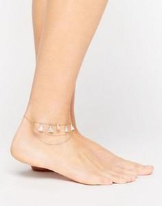 Браслет на ногу с кисточками Orelia - Золотой