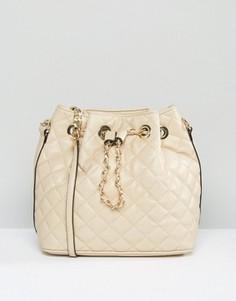 Стеганая сумка дафл Aldo - Кремовый