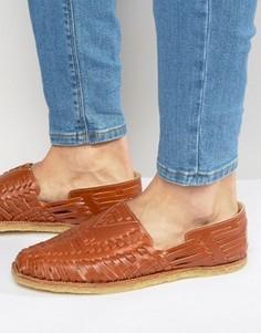 Кожаные сандалии Toms Huaraches - Коричневый