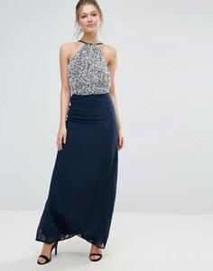 Шифоновое платье макси Maya - Темно-синий