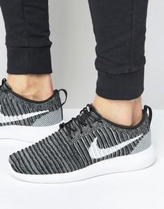 Черные кроссовки с вязаным верхом Nike Roshe Two Flyknit 844833-007 - Черный