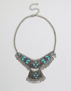Броское многоярусное ожерелье Nylon - Серебряный