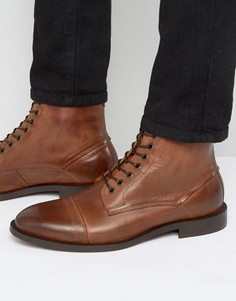 Кожаные ботинки со шнуровкой Hudson London Seymour - Рыжий