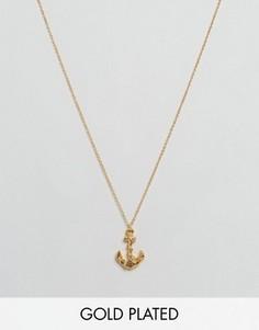 Ожерелье с подвеской-якорем Gorjana - Золотой