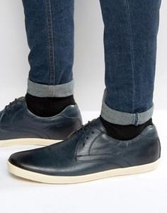 Кожаные туфли дерби Base London Concert - Темно-синий