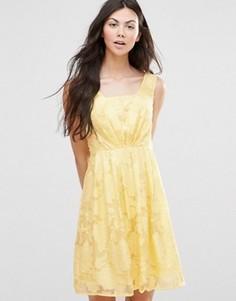 Платье из органзы Yumi - Желтый