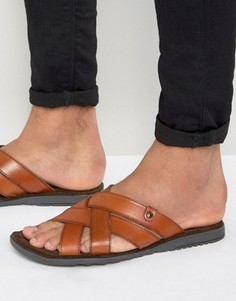 Кожаные сандалии Base London - Рыжий