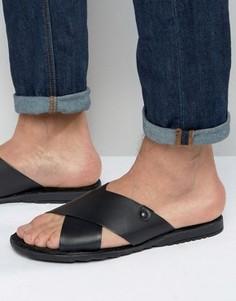 Кожаные сандалии Base London Hector - Черный