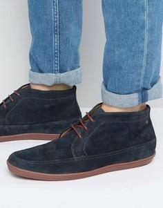 Замшевые ботинки чукка Base London Venue - Темно-синий