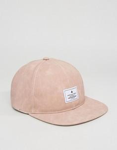 Розовая бейсболка из искусственной кожи ASOS - Розовый