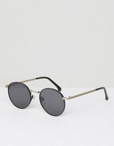Круглые солнцезащитные очки Komono The Taylor - Черный