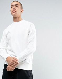 Белый свитшот с круглым вырезом adidas Originals Deluxe BJ9537 - Белый