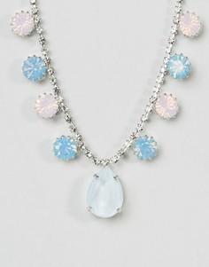 Ожерелье с подвеской и кристаллами Swarovski от Krystal - Розовый