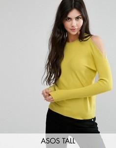 Джемпер с открытыми плечами ASOS TALL - Желтый