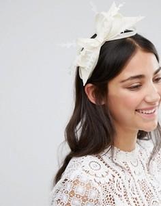 Обруч для волос с бантиком и вуалеткой Boardmans - Кремовый Elegance