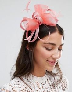 Вуалетка с перьевой отделкой Boadmans - Розовый Elegance