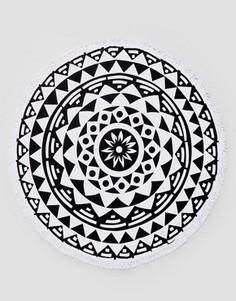 Круглое пляжное полотенце из шерстяной ткани солей - Мульти Soleil