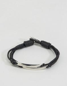Тканый браслет Icon Brand - Черный