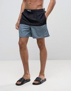 Черные шорты для плавания в стиле колор блок Nike NESS7427 001 - Черный