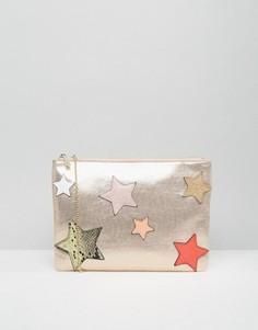 Клатч со звездами Nali - Золотой