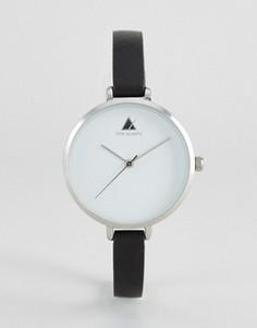 Монохромные часы с большим циферблатом и узким ремешком ASOS CURVE - Черный