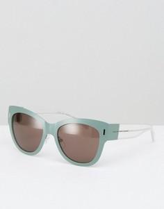 Массивные солнцезащитные очки кошачий глаз Marc By Marc Jacobs - Зеленый