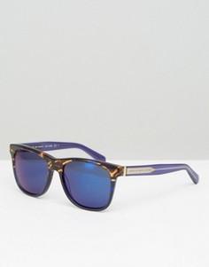 Квадратные солнцезащитные очки в черепаховой оправе Marc By Marc Jacobs - Синий