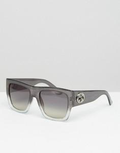 Солнцезащитные очки в квадратной оправе Gucci - Серый