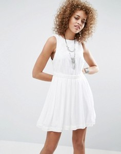Короткое приталенное платье Free People - Белый