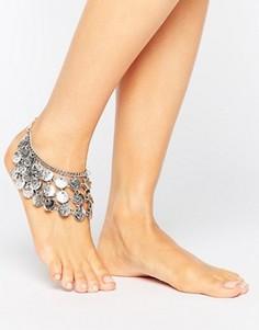Ножной браслет с монетами Raga Gypsy - Золотой