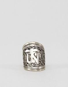 Кольцо с гравировкой Raga - Серебряный