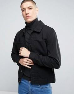 Джинсовая куртка с двумя накладными карманами Casual Friday - Черный