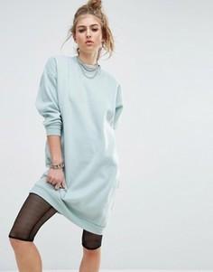 Удлиненное трикотажное платье Noisy May - Синий